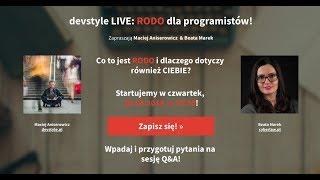 devstyle live: RODO dla programistów z Beatą Marek