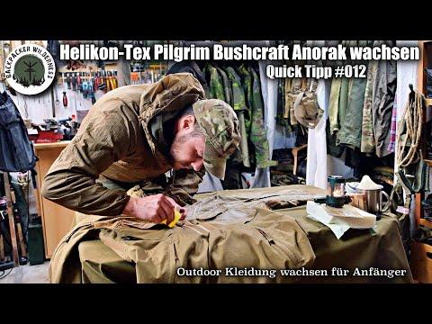 Helikon Tex Pilgrim Anorak wachsen - Anleitung & Tipps zum wachsen von Bushcraft & Outdoor Kleidung