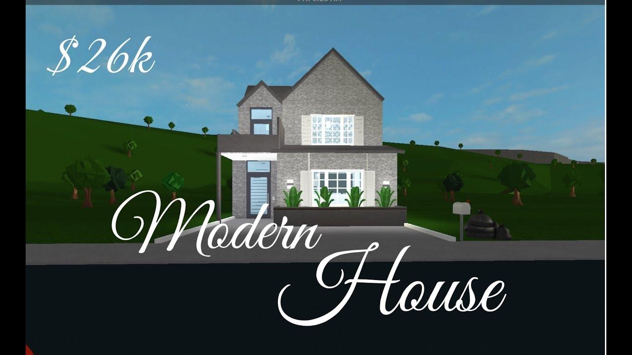 Small Modern House Roblox Bloxburg Bloxburg Small Modern House 26k Youtube