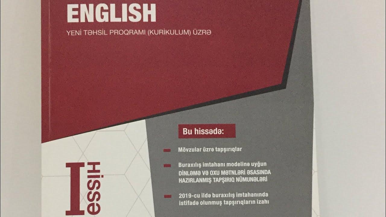 Ingilis Dili Test Toplusu 1 Ci Hissənin Cavablari Yeni 2019 Oktyabr Youtube