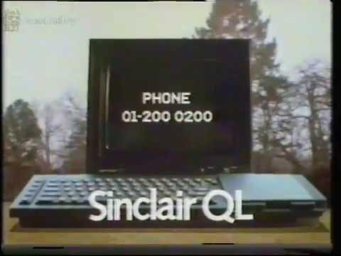 Sinclair QL Vintage computer Advert (VHS Capture)