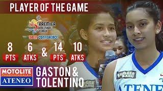 PVL OC 2018: Ponggay Gaston, Kat Tolentino earn PoG award in Ateneo's bounce back win | ADMU vs. IRG
