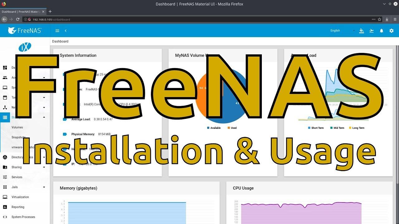 FreeNAS Installation & Usage