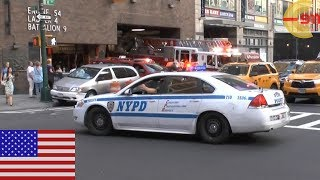 [NEW YORK CITY] MIDTOWN MADNESS - Massive Air Horn usage! NYPD blocks FDNY Midtown Firehouse
