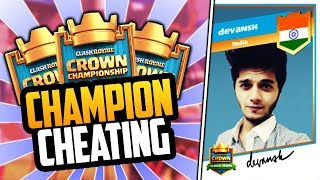 CLASH ROYALE NEWS #3 - DEVANSH GETS DISQUALIFIED FROM ROW CCGS FALL FINALS IN CLASH ROYALE!