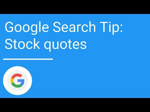 Stock Quotes Google   Google Search Tip Stock Quotes Youtube