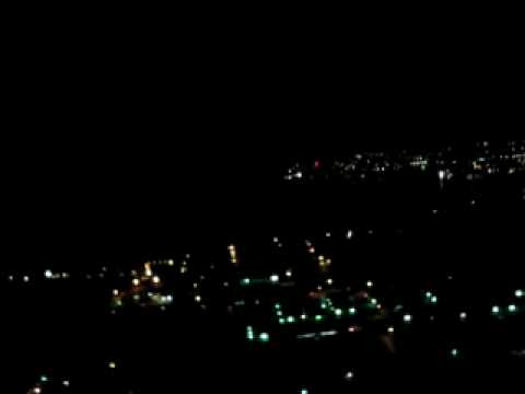 Guam from the air by night