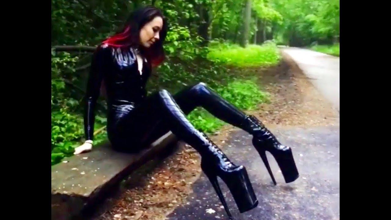 Latex and high heels