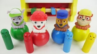 best peg pounding toy balls for preschool kids to learn colors and counting with paw patrol toys