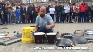 ★INCREIBLE! TOCANDO TECHNO CON CHATARRA EN EL PARQUE ★ video viral