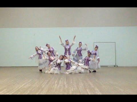 татарский лирический танец -  1ая репетиция в костюмах.
