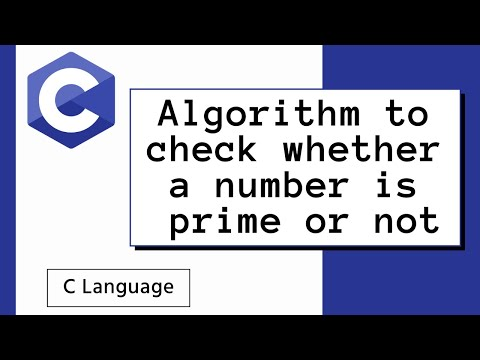 Algorithm to check whether a number is prime or not