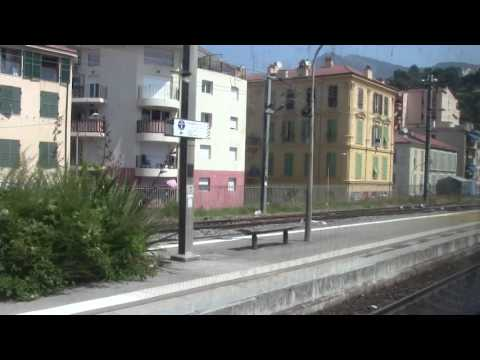 Menton HD-Crossing the Italy/French border arriving into Menton