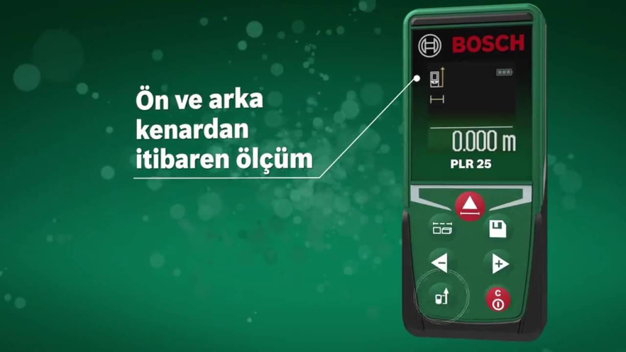 Bosch Plr 25 Laser Entfernungsmesser Bedienungsanleitung : Bosch plr lazer metre youtube
