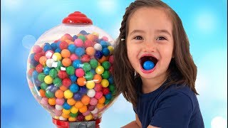 Learn Colors with a Giant Size Gumball Machine