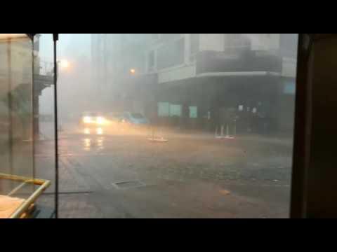 El temporal provocó destrozos en Montevideo y mantiene a Uruguay en alerta roja
