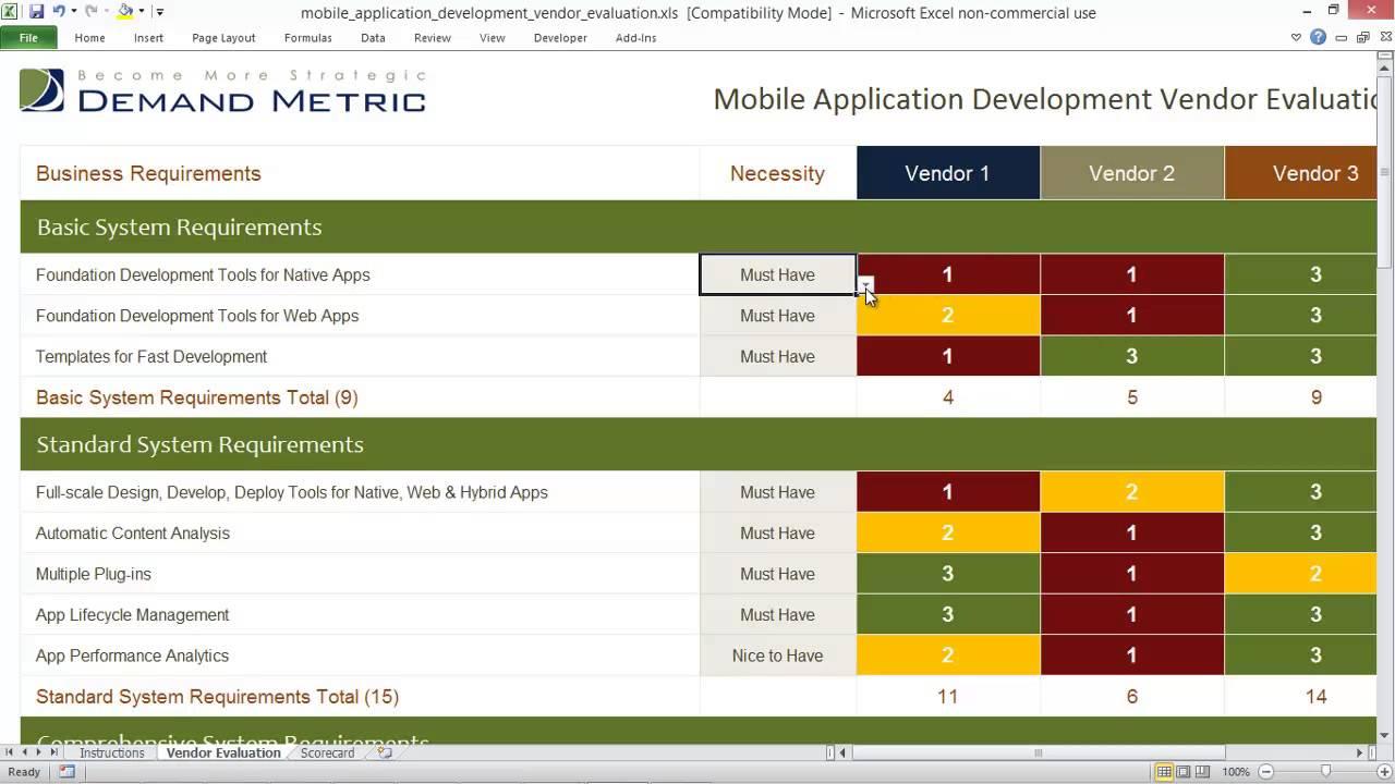 Mobile Application Development Vendor Evaluation Youtube