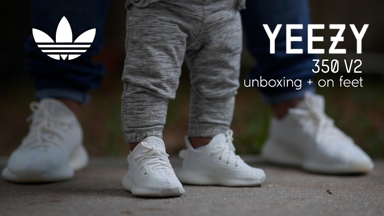 7030a84e0d4 Adidas Yeezy Boost 350 V2 Infant  Cream  Unboxing - On Feet - YouTube