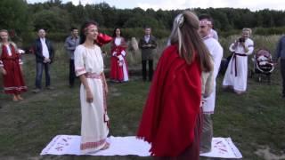 """Свадебный обряд венчания проводили семейный союз """"Родимичи"""""""