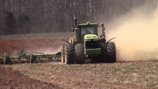 John Deere 9570R 4wd and 55ft 2210 Field Cultivator