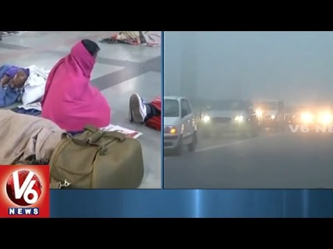 Weather Report   Dense Fog Covers Delhi   Train And Flight Services Delayed   V6 News