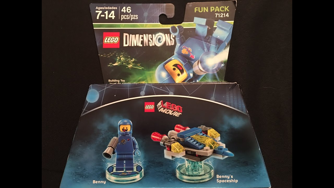 BRAND NEW and UNBOXED LEGO Dimensions LEGO Movie Benny Fun Pack 71214