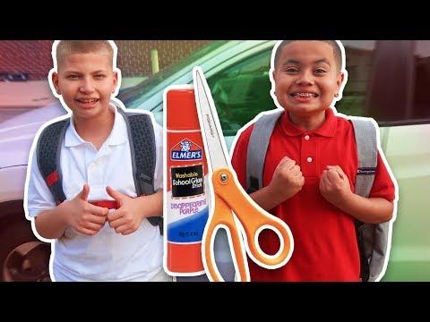 JAYDEN & KAYLEN\'S FIRST DAY OF SCHOOL VLOG!!! THEY 1v1 (EXTREME PUNISHMENT!!) BACK TO SCHOOL VLOG!
