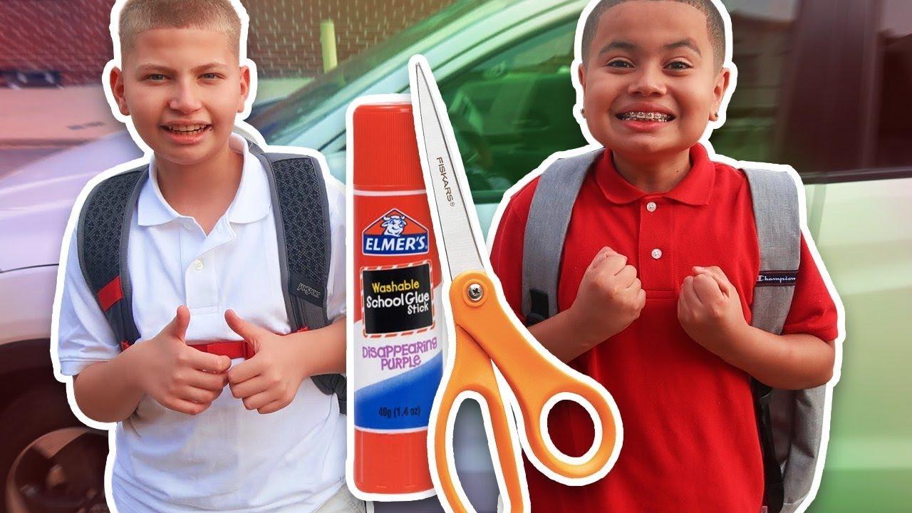 JAYDEN & KAYLEN\'S FIRST DAY OF SCHOOL VLOG!!! THEY 1v1 (EXTREME ...