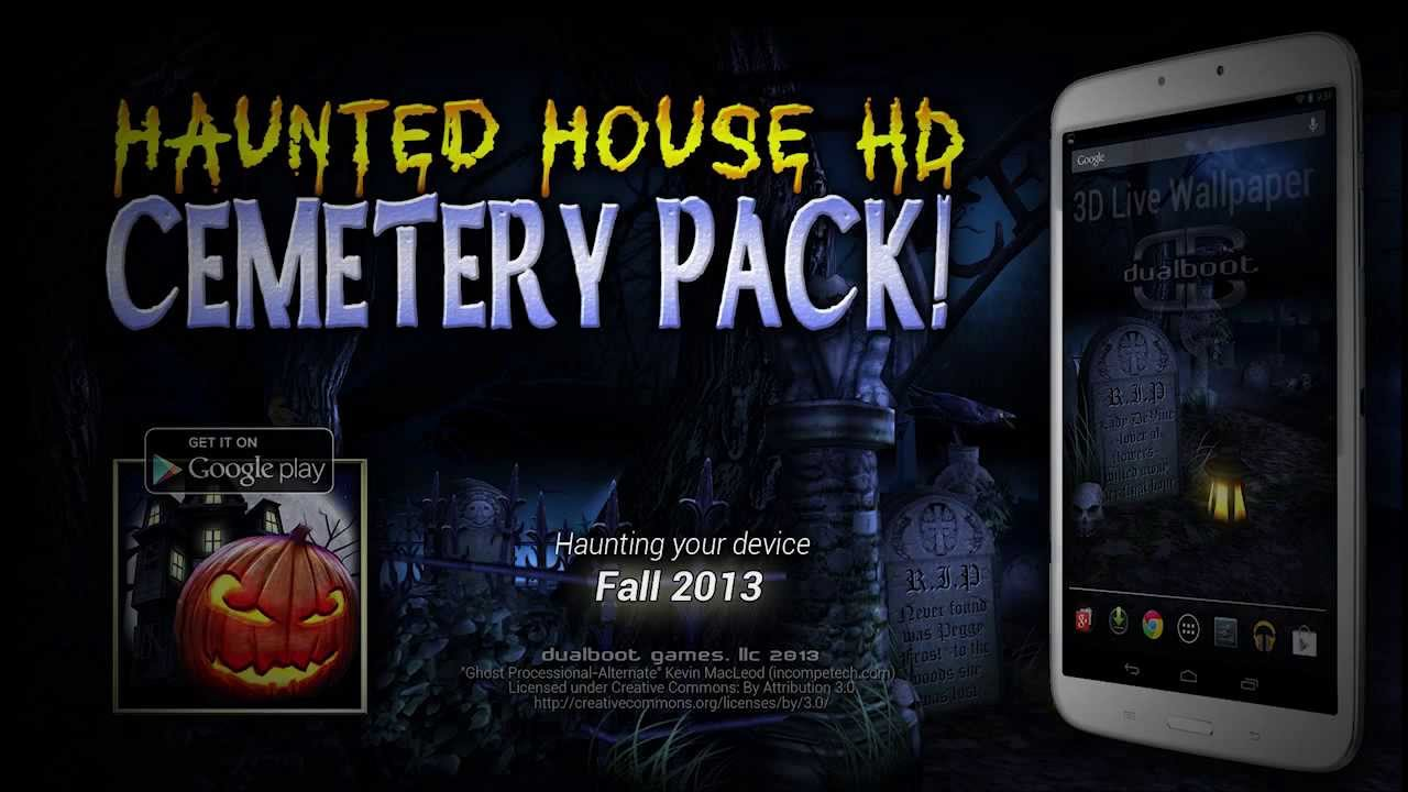 Cemetery Pack For Haunted House HD Live Wallpaper