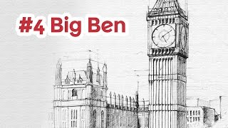 Big Ben perspective drawing #4 | famous architecture