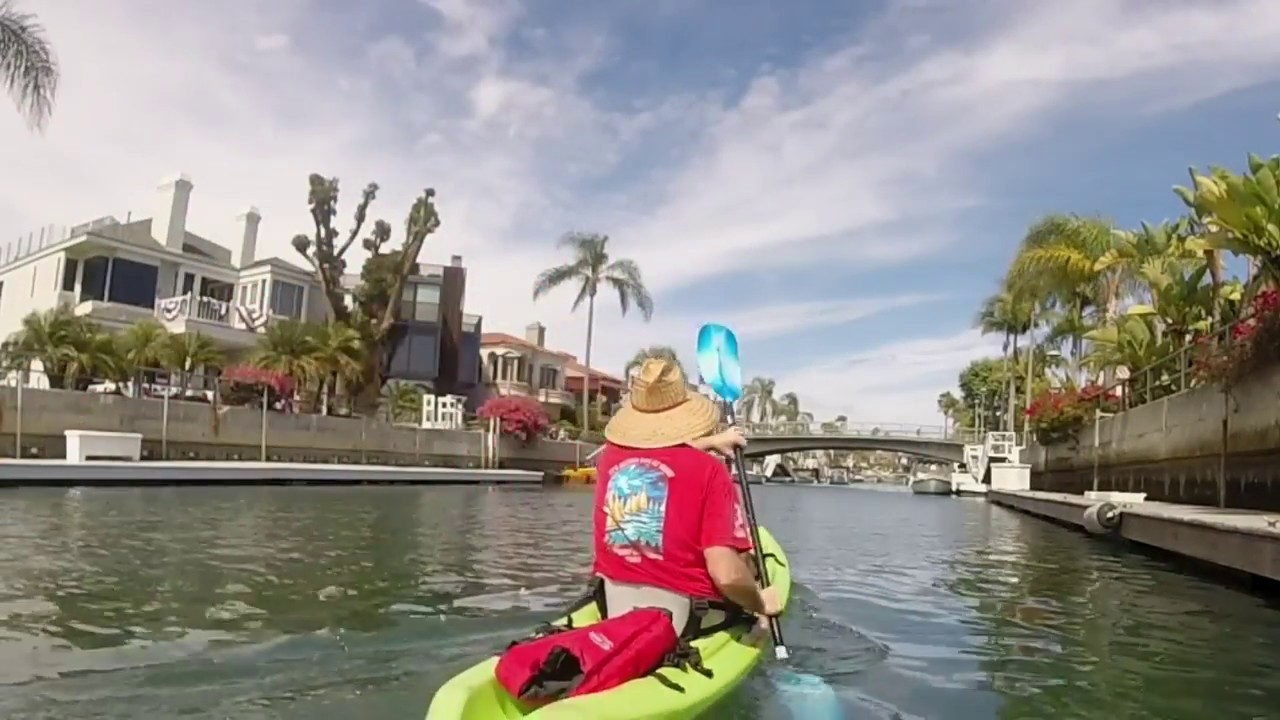 Kayaking Naples Island C Long Beach California