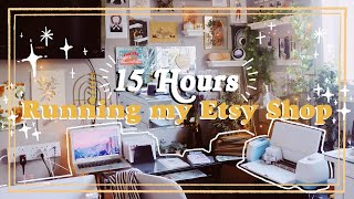 Running my Etsy Shop!✨15 Hours of Sticker Making and Packaging Orders Studio Vlog