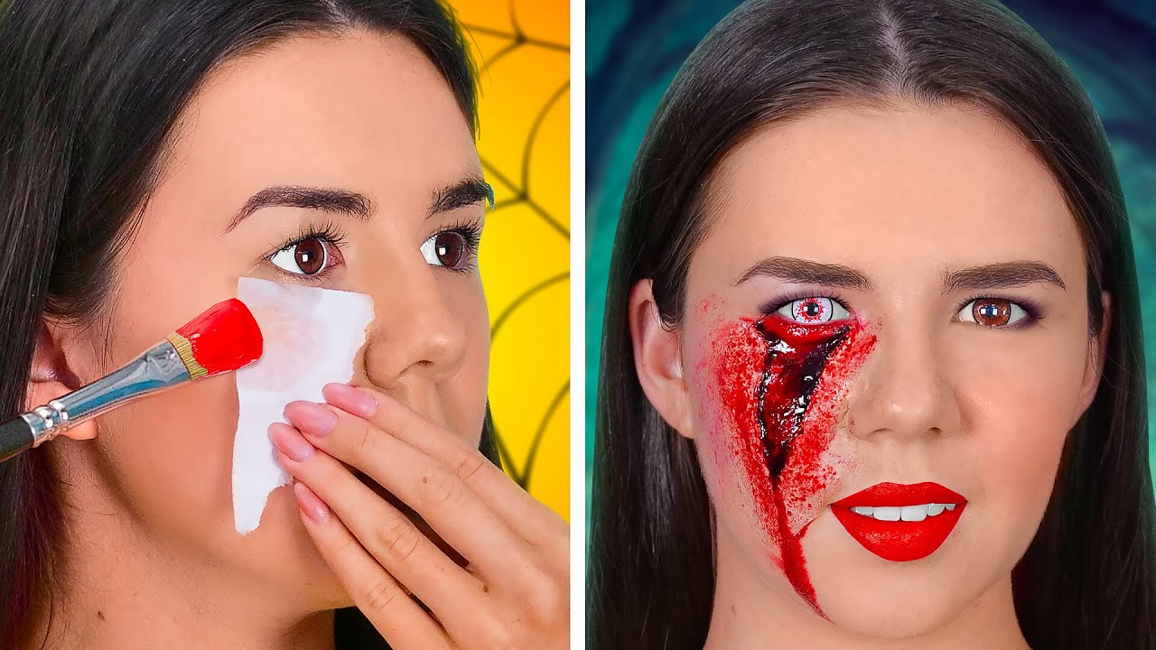 Download HOW TO SNEAK INTO A HALLOWEEN    SFX Makeup Tutorials and Scary Halloween Costumes by 123GO! SCHOOL