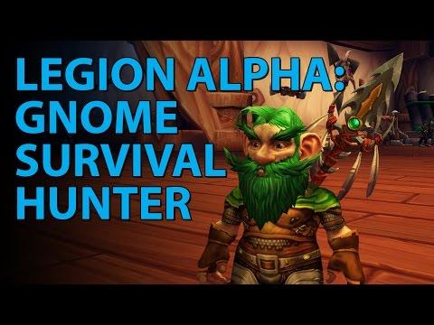 WoW Legion Alpha: Gnome Survival Hunter