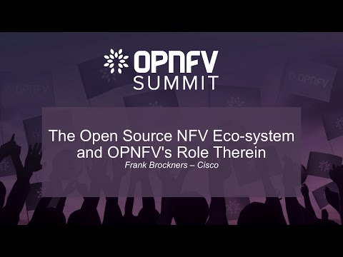 The Open Source NFV Eco-system and OPNFV's Role Therein