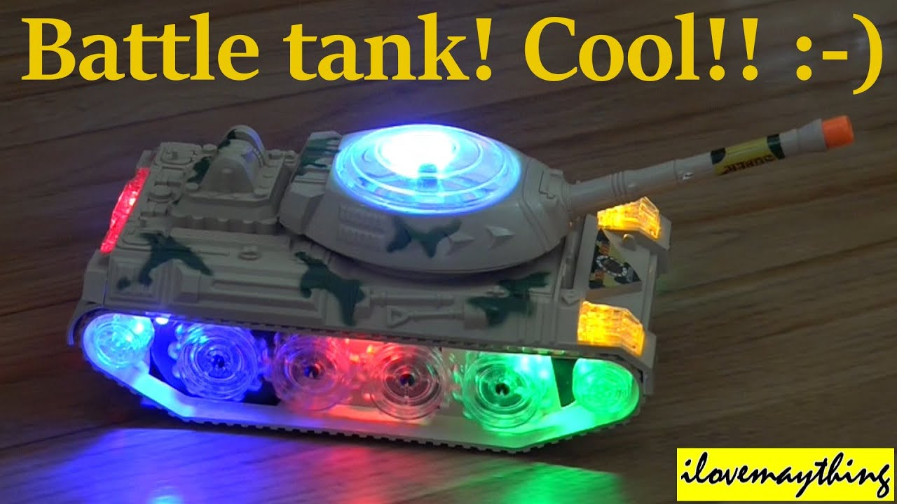 Awesome Toys for Kids Unboxing a Toy TANK with Lights and Sound