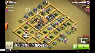 Rolling thunder, a perfect clash of clans war attack
