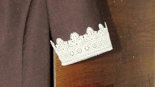 Пришиваем манжеты на школьное платье
