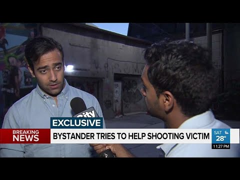 Bystander comes to aid of shooting victim