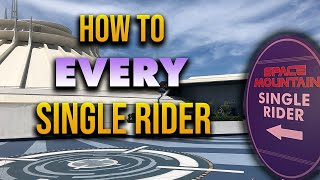 How To every SINGLE RIDER attraction at Disneyland