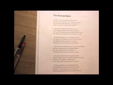a personal analysis of the ruined maid by thomas hardy Barker, poetry analysis essay - the ruined maid the  written by thomas hardy in 1866, and endows his personal beliefs and the beliefs of  barker, poetry.