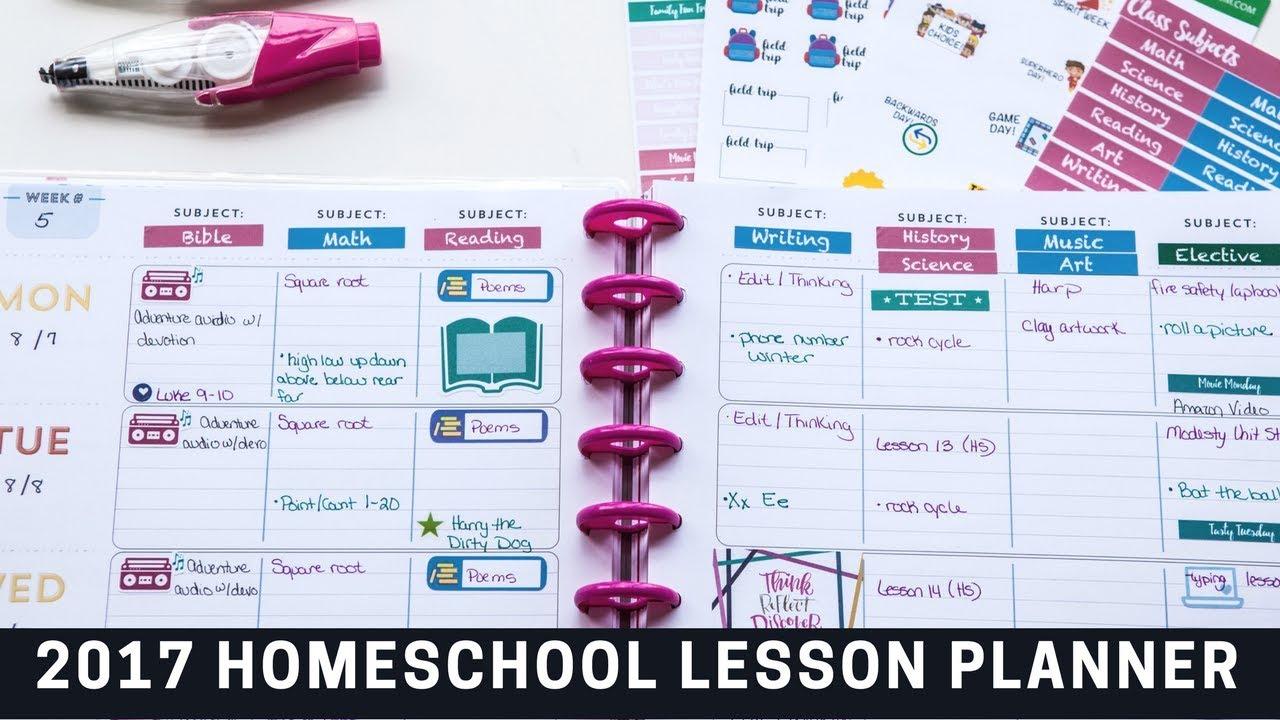 Back To Homeschool Teacher Hy Planner For Lesson Plans