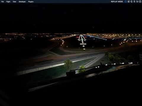 [X-Plane 11] Runway 03 Approach to Lisbon -  Street Lights graphics OP