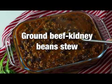 Ground Beef-Kidney Beans Stew