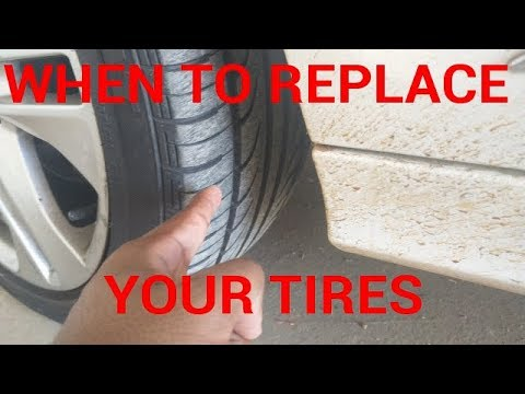 How to CHECK when to REPLACE tires!
