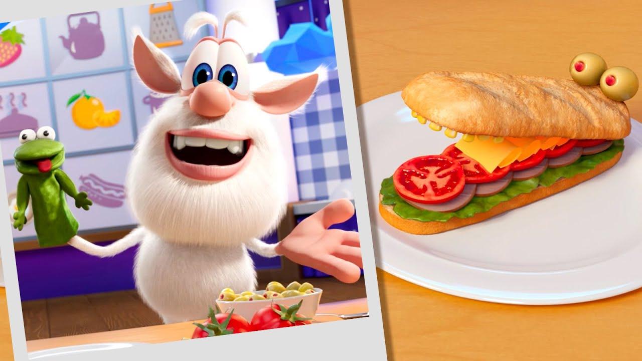Буба 🥪 Кулинарное шоу Бубы: Смешные сэндвичи 🐸🐊 Весёлые мультики для детей - Буба МультТВ