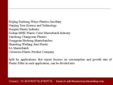 China Plastic Filler Sales Market Report