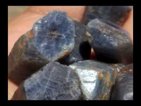 Rough Blue Sapphires And White Sapphire Youtube