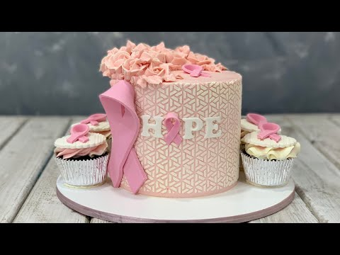Breast Cancer Awareness Cake & Cupcakes