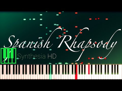 Spanish Rhapsody // LISZT [Piano Tutorial] (Synthesia)